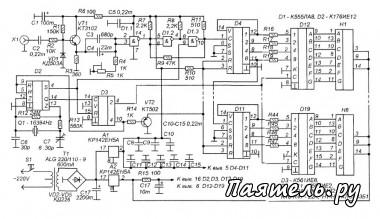 Схема радиолюбительского частотомера 1 Гц - 50 МГц