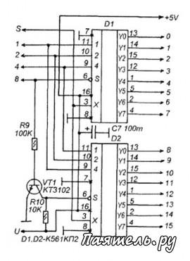 Схемы пультов телевизоров