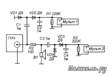 Схема электрических соединений асн-1 ...