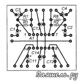 Схема предусилителя-эквалайзера