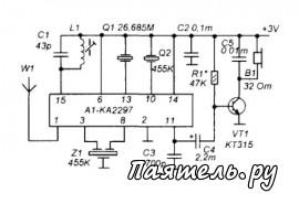 Применение микросхемы ИМС MC3361 и КА2297