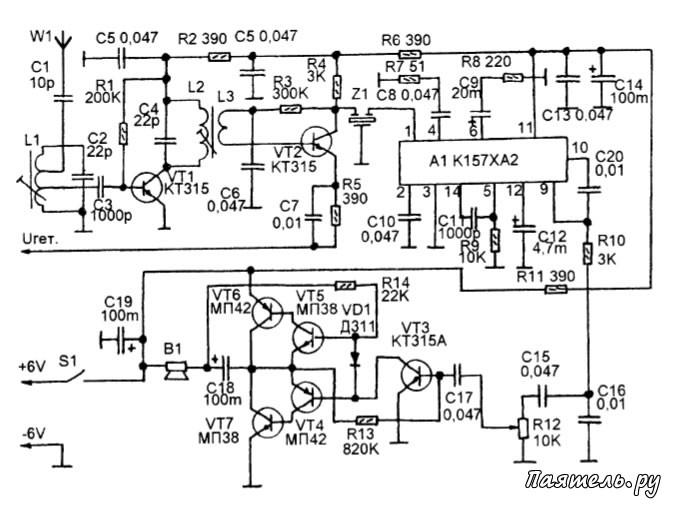 Схема приемных трактов AM СВ-