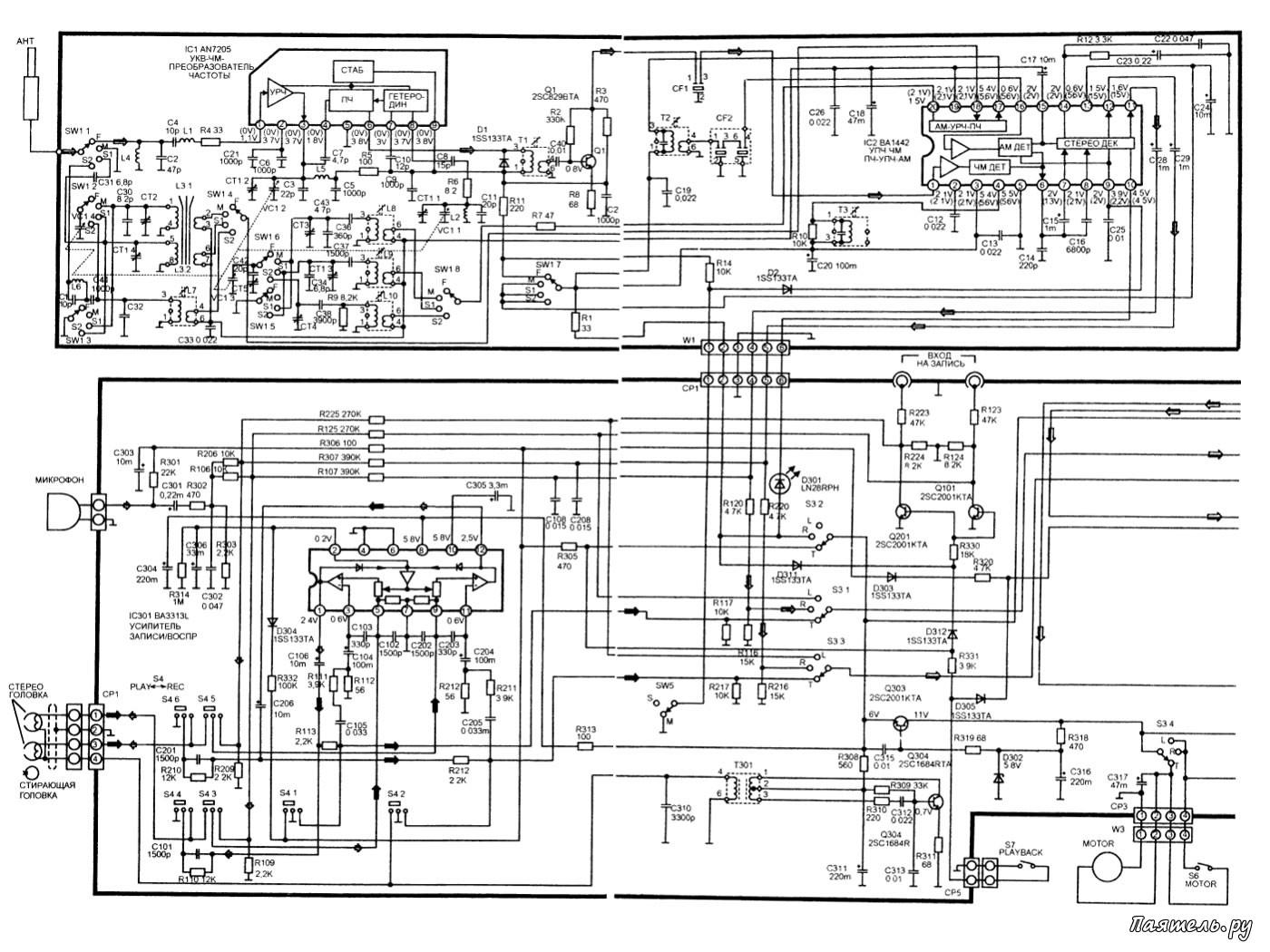 Panasonic rx-fs430 принципиальная схема