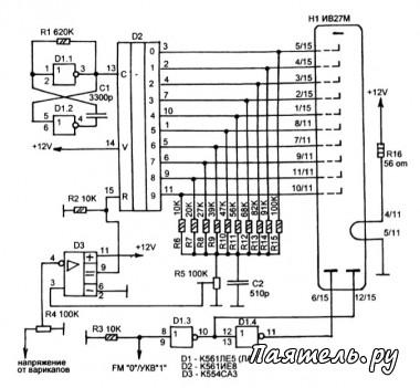 Практически, она представляет собой вольтметр, измеряющий напряжение на варикапах или переменном резисторе...