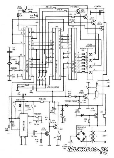 Схема электронных часов на pic16f628a предлогаю вашему вниманию схему электронных часов схема электронных часов и...