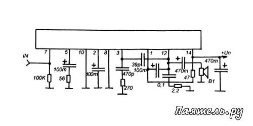 Микросхемы выполнены в корпусах DIP с 14-ю выводами.  Они содержат одноканальные УМ34, выполненные по сходным схемам...