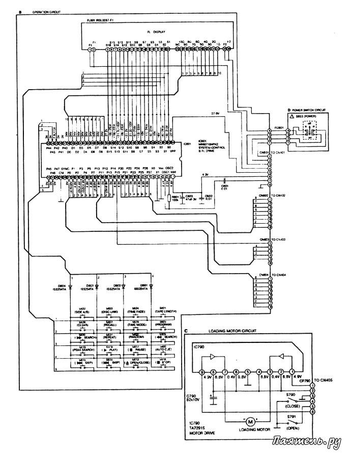 Схема CD-плеера Technics SL-