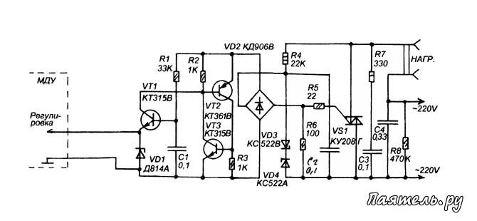 На рисунке показана схема передающего и приемного модулей простой ... усиления - Схема простого коротковолнового...