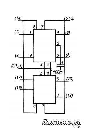 Схема Трехканального усилителя