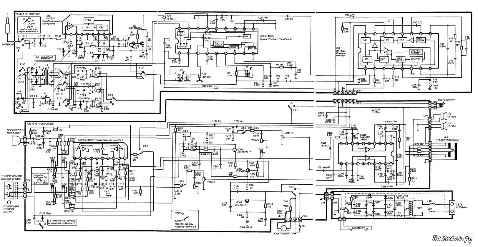 Схема магнитолы носимой