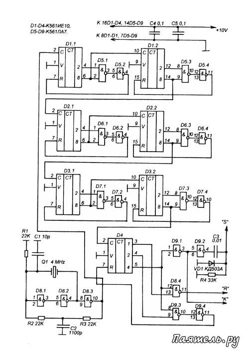 на микросхемах К561 и К176