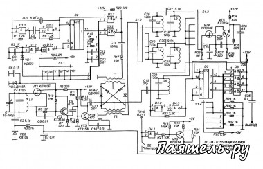Схема синтезатора для трансивера прямого преобразования