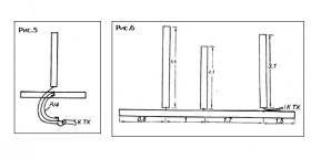 Для более точной подстройки антенны в верхнем крае диапазона её работы, можно сделать вырезы в её верхнем полотне в...