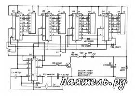 принципиальная схема электронных часов