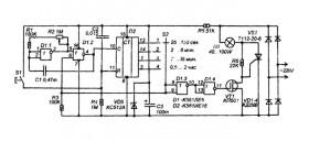 На рисунке 2 показана схема таймера-выключателя, величину выдержки времени которого можно устанавливать в очень...