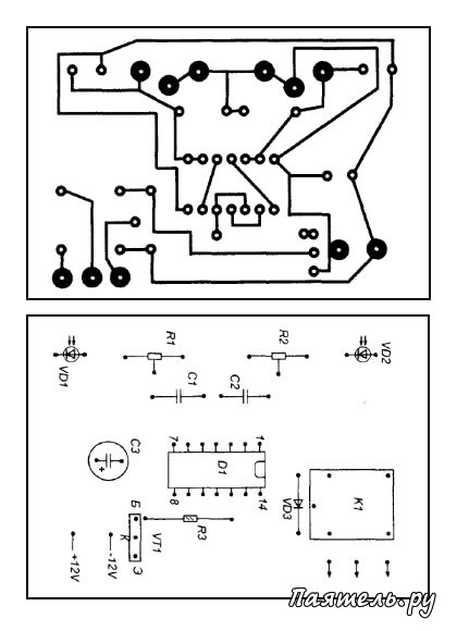 Схема устройств на фотодиоде