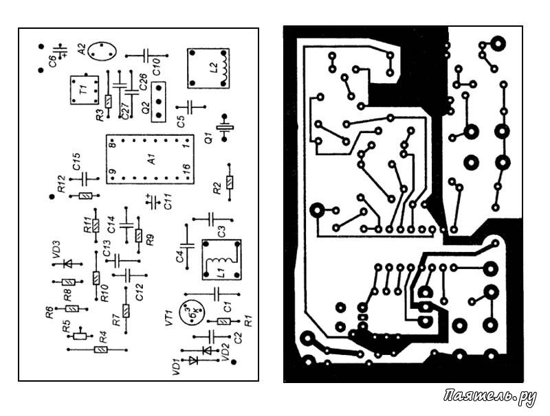 Схема резистора на высоких частотах