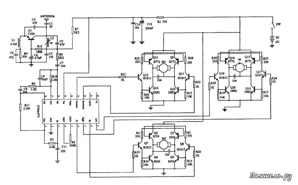 Схема машинки на радиоуправлении китай