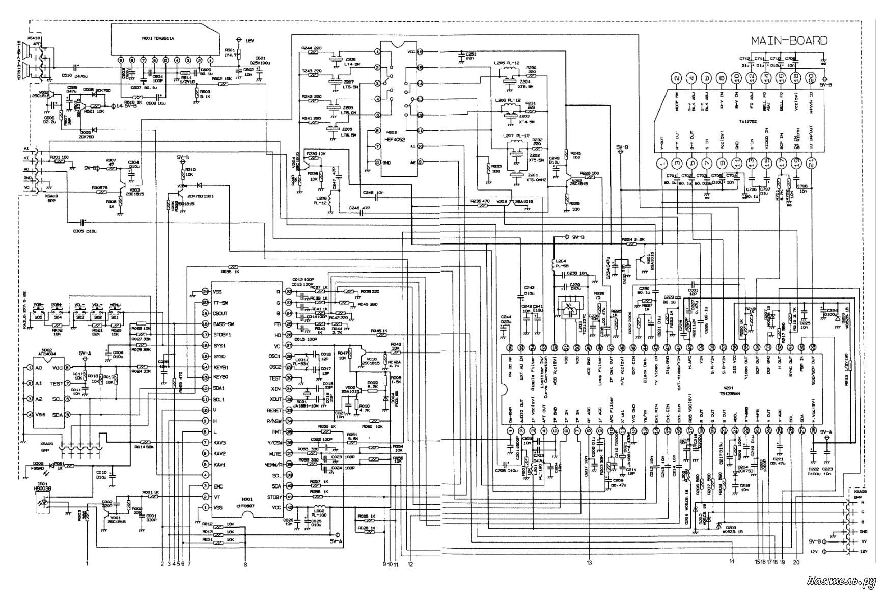 Схема на телевизор philips фото 802