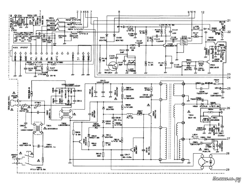 Схема телевизора y