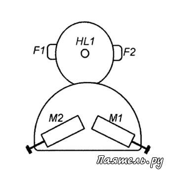 Схема электронной игрушки на ИК.