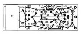 Схема простого лабораторного двухполярного источника питания.