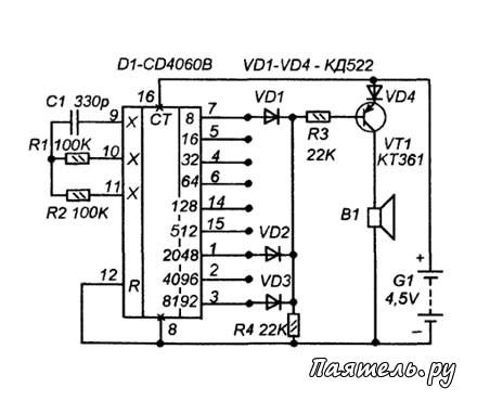 Микросхема CD4060B для
