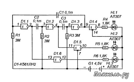 Микросхема К561ЛН2