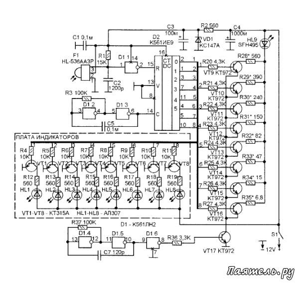 Ходовые огни на авто схема подключения от датчика масла 52