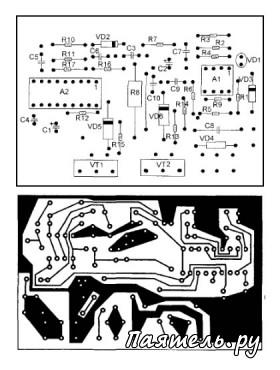 Схема преобразователя напряжения DC12V / AC220V.