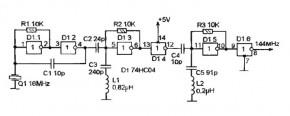 На рисунке 3 приводится схема высокочастотного кварцевого мультивибратора, которую можно с успехом использовать в...