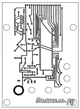 Схема осциллографа на микрокотроллере.