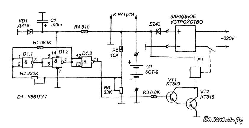 зарядного устройства 12В