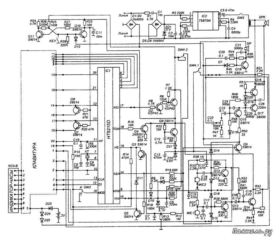 Схема телефона Panaphone