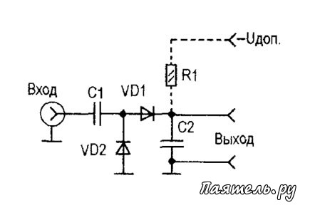 Схема измерения маленьких токов мультиметром.
