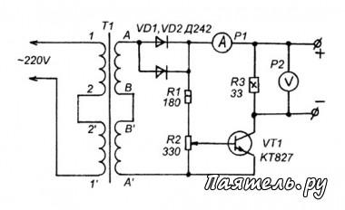 Схема зарядника для аккумулятора 112