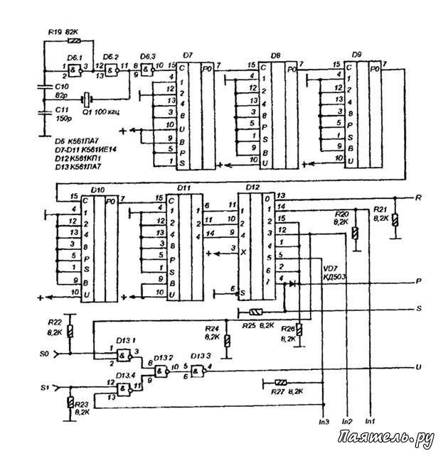 Схема цифровой шкалы КВ-