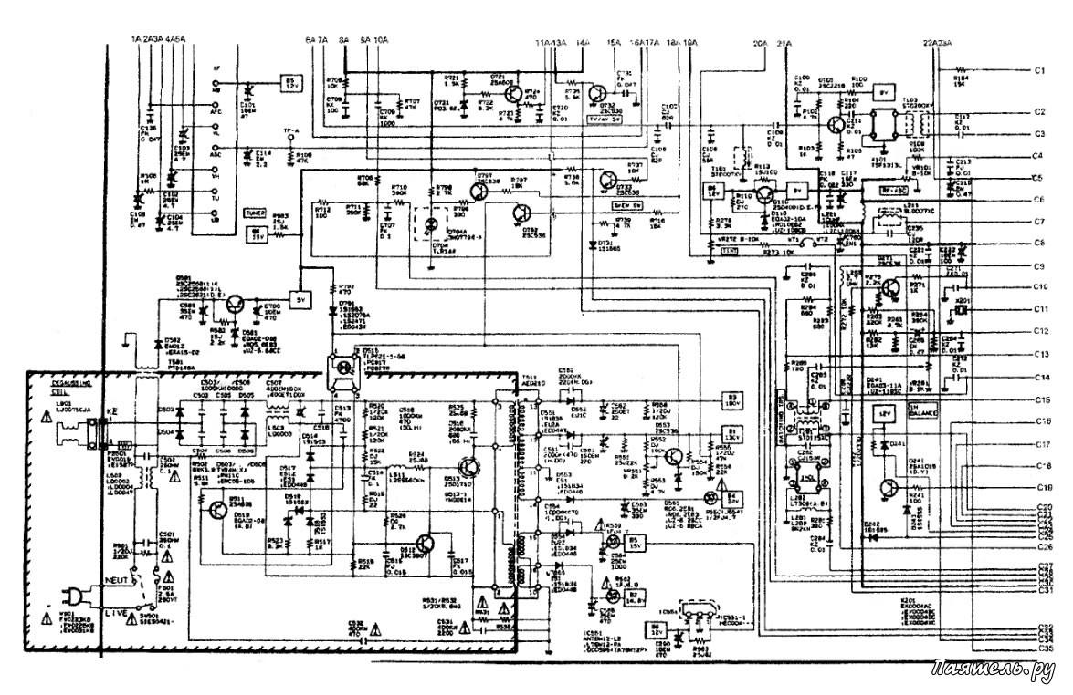 Схема магнитола sanyo