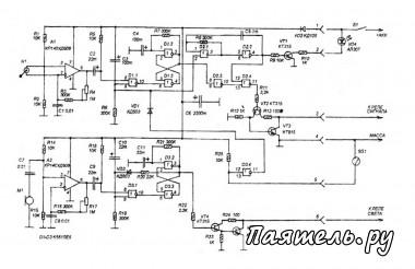 ...то что при достаточно большом наборе функций в ней используются однотипные элементы микросхемы КР140УД608 и...
