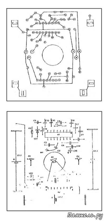 Схемы разводки проводников и