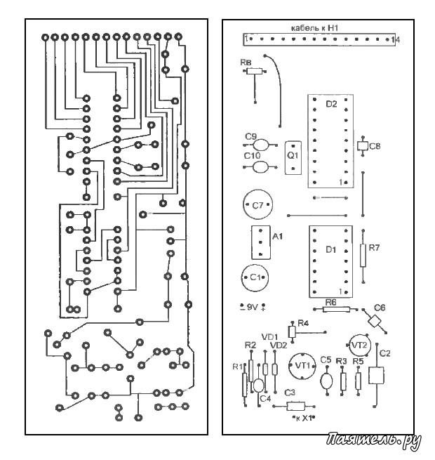Схема частотомера на