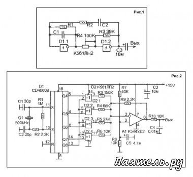 Категория.  Обычно, генераторы низкочастотных синусоидальных сигналов строят на операционных усилителях.