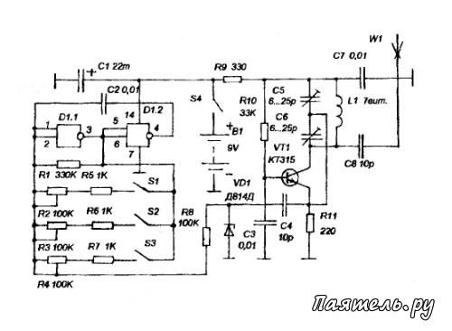 В основе схемы радиоуправления