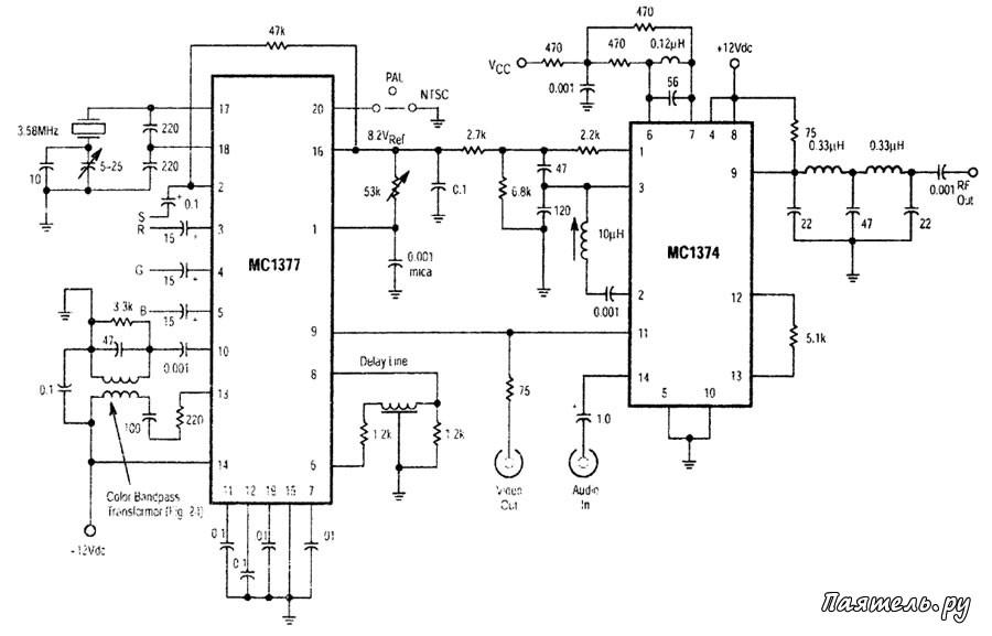 Микросхема МС1374 - модулятор