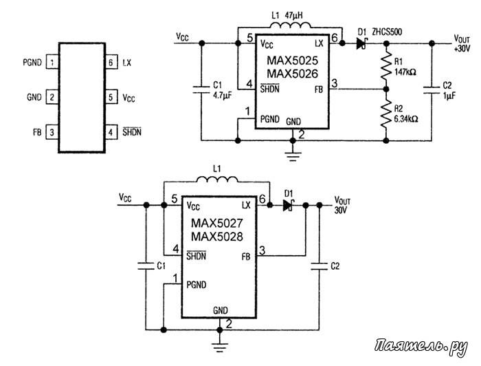 Микросхема МАХ5025-МАХ5028