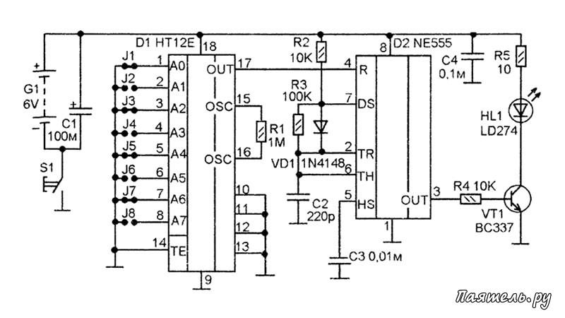 Микросхемы НТ12Е и HT12D фирмы