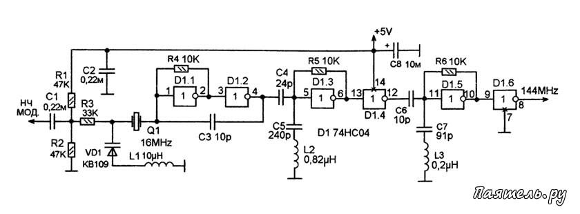 Микросхемы серии 74НС и 74LVC