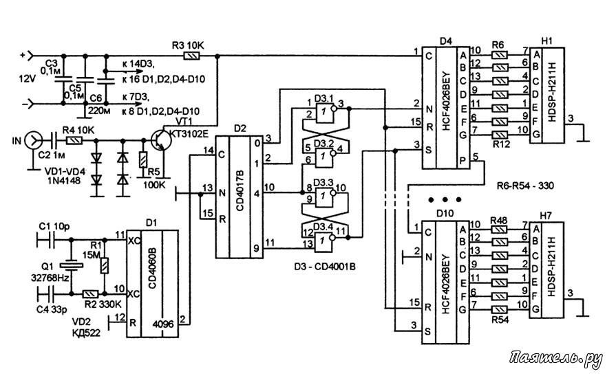 Микросхема HCF4026BEY является
