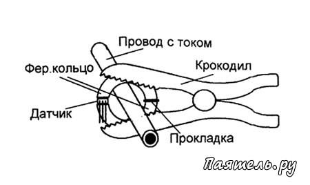Схема токовых клещей