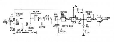 Схема задающего генератора на микросхеме